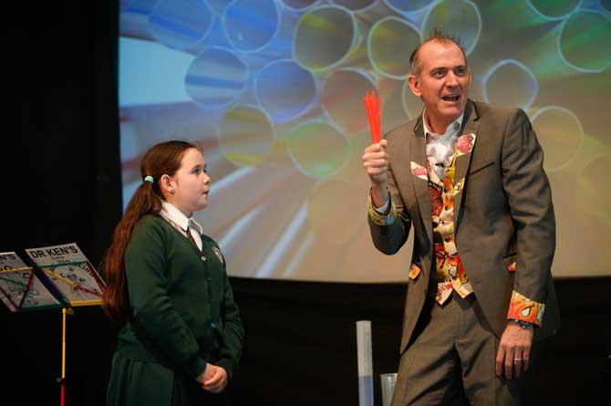 Dr Ken Maths show straws game